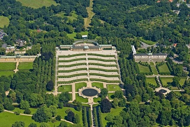 Park Sanssouci und Schloss Sanssouci in Potsdam
