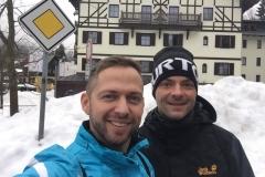 Denny und ich in Spindlermühle, Riesengebirge