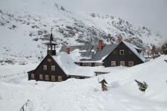Spindlermühle, Winter, Winterlandschaft, Haus eingeschneit