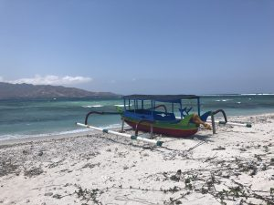Boot auf den Gili Inseln