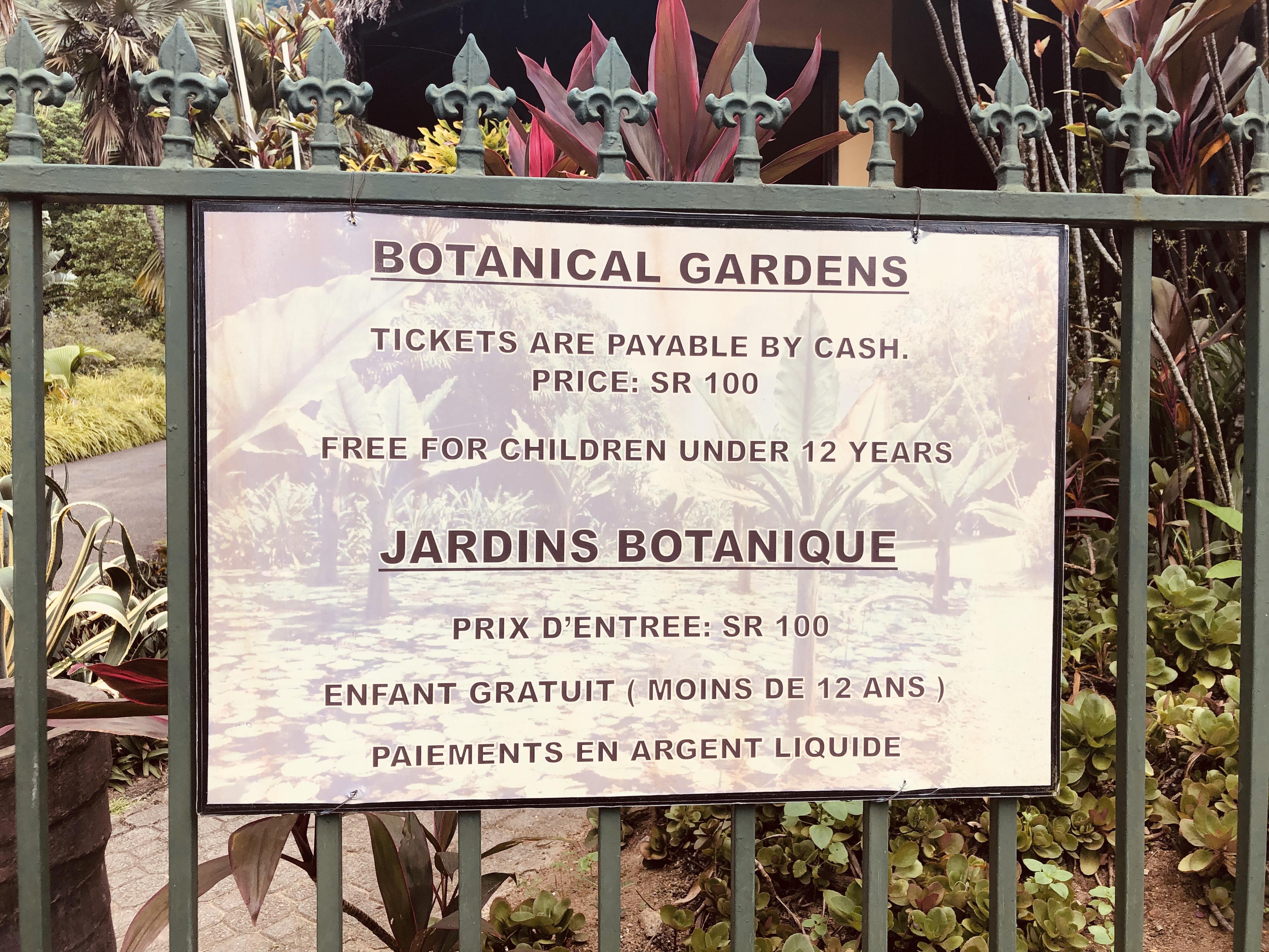 Mont Fleuri ein botanischer Garten als Nationaldenkmal