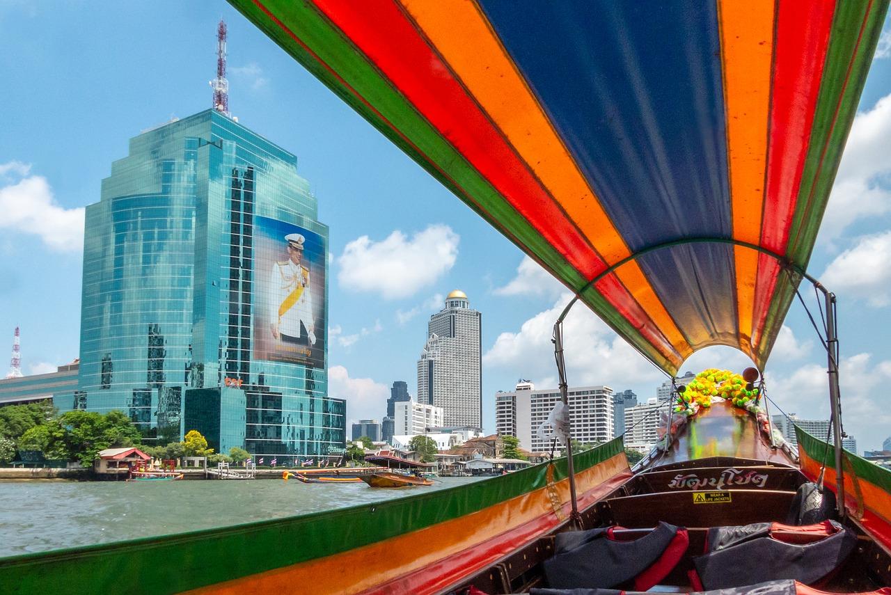 Reise Architektur Stadt Himmel Verkehrssystem Bangkok Sehenswürdigkeit